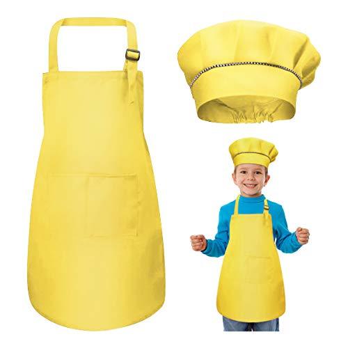 Niños Delantal y Gorro de Cocinero