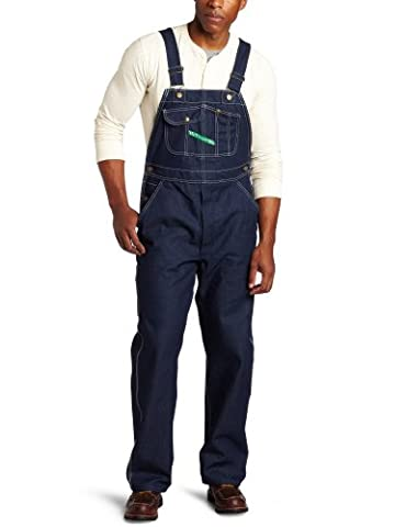 Key Apparel Men's Big-Tall Hi-Back Zipper Fly Bib Overall, Denim, 48X34