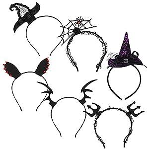 6 Piezas Diademas de Halloween