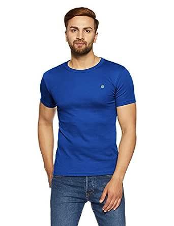 United Colors of Benetton Men's Solid T-Shirt (17A3C78J1205I903M_blue)
