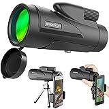 12x 50 Telescopio Monocolo, BUDDYGO Monoculare Waterproof Portatile Cannocchiale per adulti con adattatore per smartphone e treppiede per la caccia alla caccia di uccelli