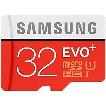 Samsung EVO Plus Class 10 32GB MicroSD 80 MB/S Memory Card with SD Adapter (MB-MC32D)