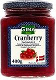 Feinster dänischer Fruchtaufstrich Cranberry im 400g Glas Gina
