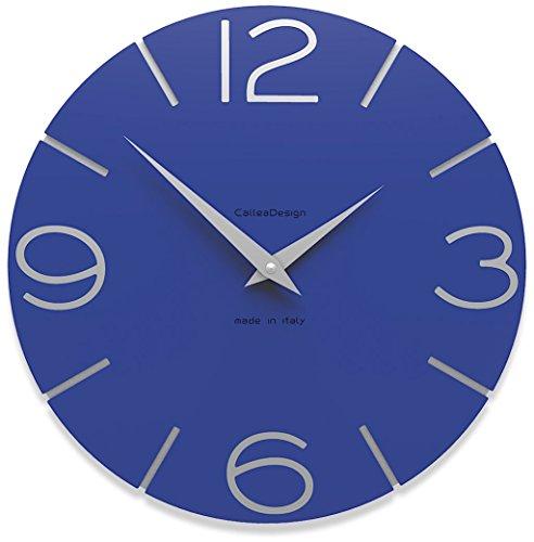 Calleadesign - Horloge murale Smile, bleu électrique