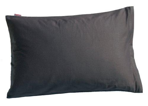 beties Mako Satin Kissenbezug 40 x 60 cm in 9 eleganten Uni Farben Anthrazit-Grau 1 Stück (wählen Sie Ihren Bettbezug extra dazu)