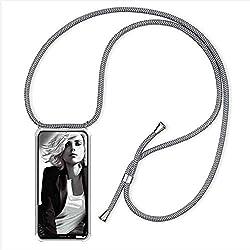 YuhooTech Handykette Kompatibel mit iPhone 7 / iPhone 8, Smartphone Necklace Hülle mit Band - Handyhülle mit Kordel Umhängenband - Schnur mit Case zum umhängen in Grau