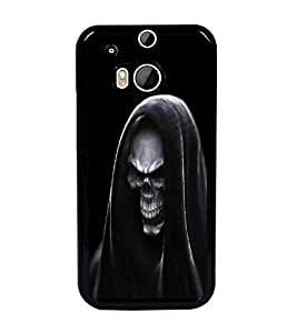 PrintDhaba Skeleton D-2017 Back Case Cover for HTC ONE M8 EYE (Multi-Coloured)