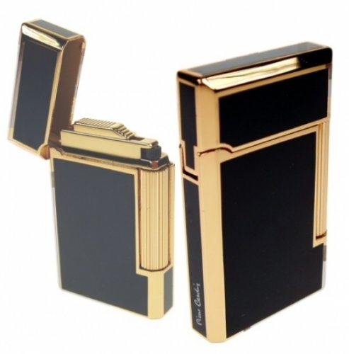 paris-gold-lack-schwarz-pierre-cardin-feuerzeug