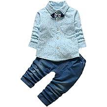 Mono Bebé , Amlaiworld Bebé niños pequeño de impresión Tops + pantalones ropa conjuntos 0-24 Mes