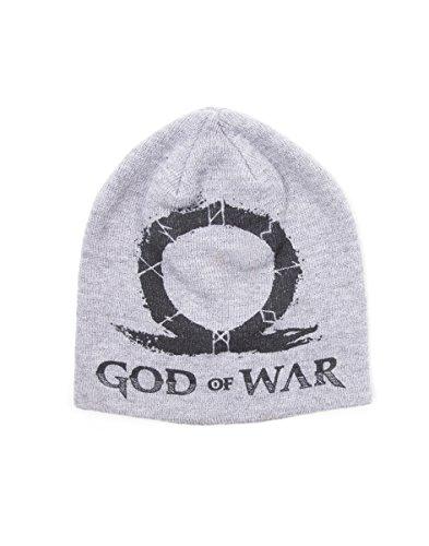 God of War Beanie GOW Logo Screen Print Grey