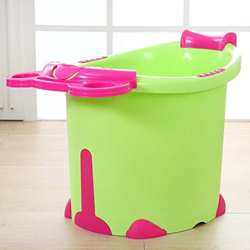 PIGE Badewannen Große Kinderbad Badewanne Plastikbadezimmer Badewanne Kinder können in der Badewanne sitzen ( Farbe : Green And Red Models )
