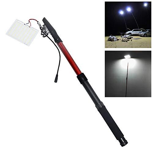 Gracorgzjs 12V télescopique Canne à pêche Lanterne extérieure LED lumière télécommande Lampe de Camping