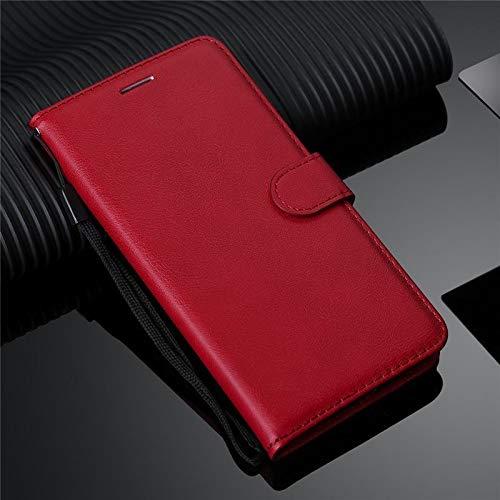 Erstklassige PU-lederne Telefon-Mappen-Kasten-Mappen-Abdeckung für Samsung-Galaxie-Anmerkung 4 Fall-lederne Schlag-Telefon-Abdeckung Coque für Samsung-Anmerkung 4 Premium-Handyhülle ( Color : Red )