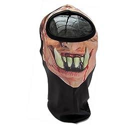 Máscara ' Fang blood-drip ' diseño Lycra ' Súper Suave / Elástico Shihan CL Esquí Bicicleta Fútbol Deporte Balaclava Casco Ninja, Disfraz 1 talla Senior, Moto de Capucha Cuello Halloween, Fiesta