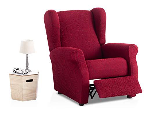Bartali custodia di poltrona relax elastica aitana, 50% poliestere, 45% cotone, 5% elastam, rosso, 1piazza