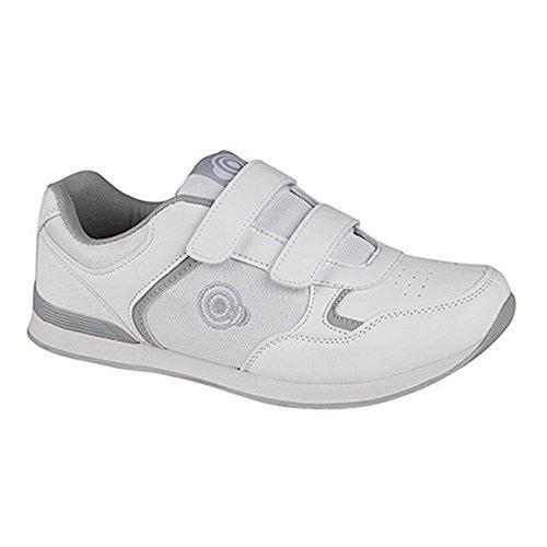 Dek Drive Herren Bowling-Schuhe mit Klettverschluss, im Sneaker-Stil (46 EU) (Grau)