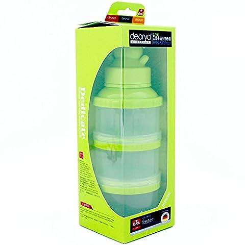 Formel-Dispenser, Dearya Twist-Lock stapelbar BPA frei On-the-Go 3 Fächer Bär