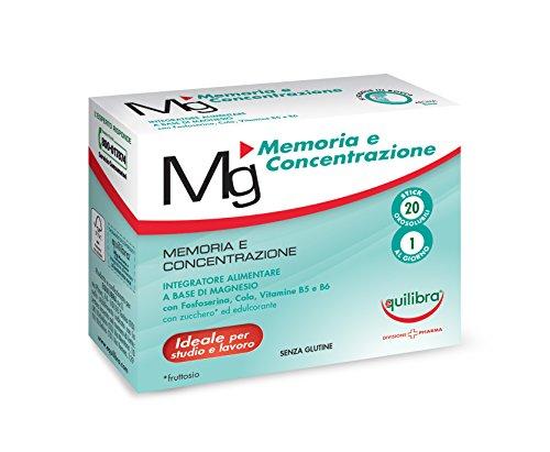Equilibra Integratore Alimentare Magnesio Memoria e Concentrazione -20 Stick Pack