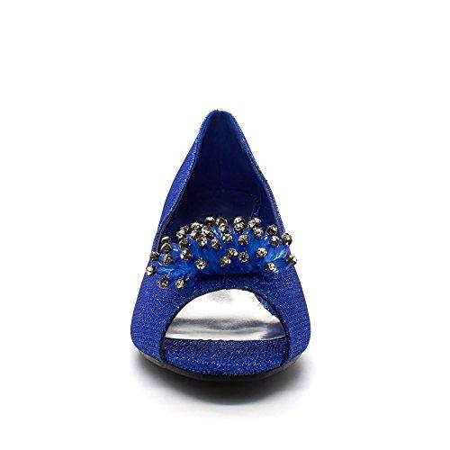 London Footwear ,  Damen Peep Toes Blau