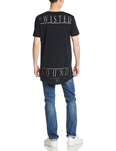Diesel Herren Shirt Motiv T-Shirt T-Longer-B Maglietta Schwarz