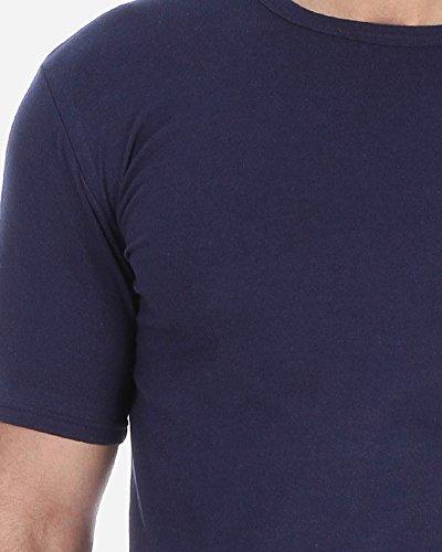 Solo® Herren Business Unterhemden, Rundhalsausschnitt. Slim-Fit Herren Unterhemden, kurzarm Männer Basic T-Shirts. Ägyptischer Baumwolle. 4 Farben, S-3XL. Sportliche Freizeit Outfit. Navy