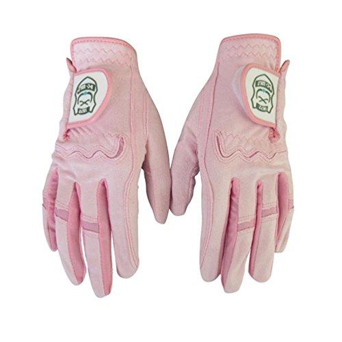HUPLUE Damen Golf Handschuhe beide Hände angenehm weiches atmungsaktives Sport Handschuhe 1Paar