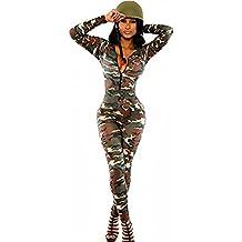 Donna, lunghezza intera, con stampa mimetica militare Tuta Tutina Club Wear-tuta intero per vestiti, misura L, 14 cm - Tuta Militare