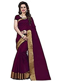 BuyOnn Women's Multi-coloured Saree Collection Cotton Silk Sarees For Women Party Wear Wear Sarees With Blouse...