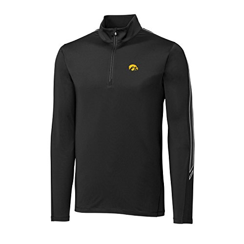 Cutter & Buck Pennant Sport Half Zip, Herren, CB DrytecTM Pennant Sport Half Zip, schwarz, Small - Cutter & Buck Mesh Pullover