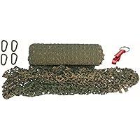 Outdoor Tarnnetz grün woodland camouflage light weight + Karabiner + AOS-Outdoor® Schlüsselanhänger UV Beständig 3 Größen