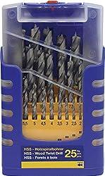 Fisch® Holzspiralbohrer-Satz Eco, 25-teilig