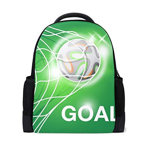 grünem Fußballball-Motiv, für Büro, Schule, Laptoptasche, Reisetasche ()