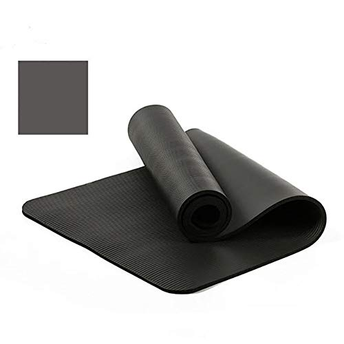VIWIV Yoga-Matte, rutschfeste Dicke NBR-Yoga-Matte 183 * 61 * 1CM, Geeignet Für Yoga-Pilates-Tanz-Outdoor-Gymnastikmatte,Schwarz