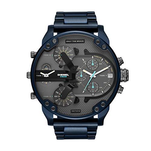 Diesel Herren Chronograph Quarz Uhr mit Edelstahl Armband DZ7414