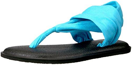 Sanuk Leichte Sandalen (Sanuk Damen Flop Yoga Sling 2 Solid Vintage, Flip-Flops, Aqua, 38 EU)