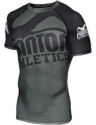 "T-Shirt de compression Phantom Athletics Rashguard ""Supporter Green/Black–à manches courtes–Fonction T-shirt manches courtes pour homme"
