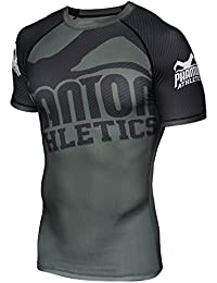"'Phantom Athletics ""Supporter Green/Black – Función de manga corta camiseta Camiseta de compresión para hombre, color negro, tamaño extra-large"