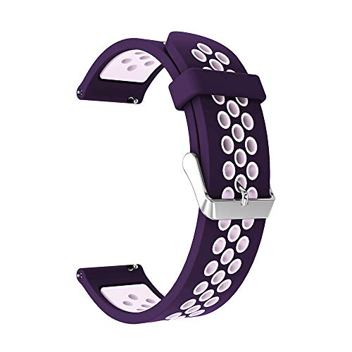 TianranRT Doppelte Farbe Sport Silikon Armband Gurt Band Für Samsung Galaxie Uhr (N, 42MM) -