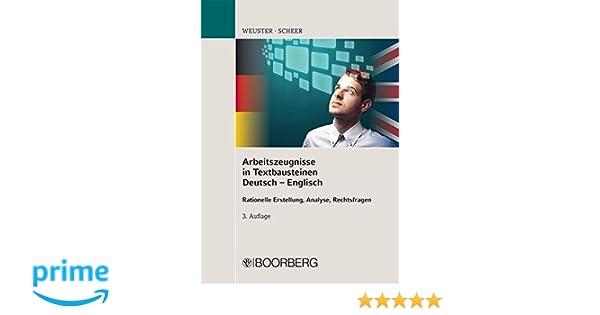 Arbeitszeugnisse In Textbausteinen Deutsch Englisch Rationelle