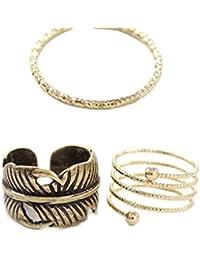 Fashion anillos para dedo / Fashion Midi-Anillo moderno / Múltiples anillos para apilar / Chapado en oro de DesiDo®