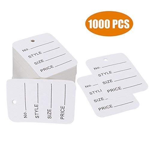1000pz prezzo etichette di carta perforata, vestiti usato  Spedito ovunque in Italia