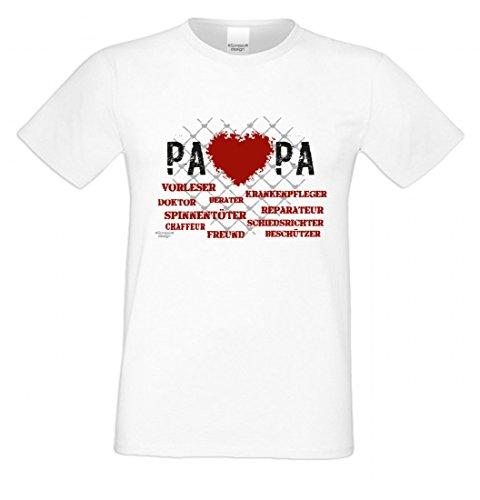 T-Shirt als Geschenk für den Vater - Freund Berater Vorleser - Ein Danke für den Papa mit Humor zum Vatertag oder einfach so Mehrfarbig