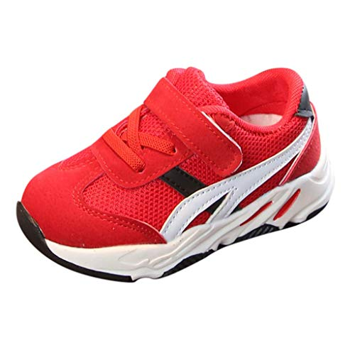CixNy Kleinkind Kind Baby Mädchen Unisex Sneaker Sommer Ineinandergreifen Beiläufiger Sport laufende Schuhe Turnschuhe Bequeme Atmungsaktiv Freizeit Rot Pink Beige Gr.15-30