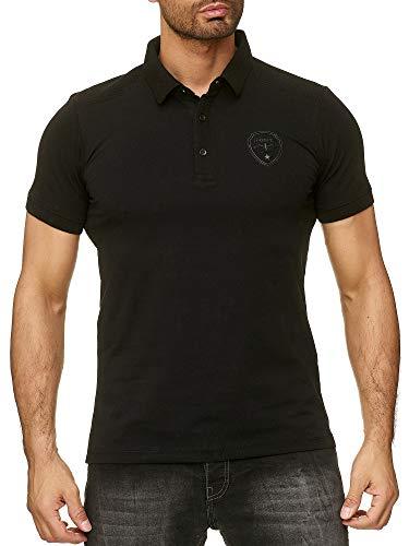 SCAMM Herren Polo Shirts aus Baumwolle Slim fit sportlich männlich elegant Anders für den coolen Alltag und heiße Events (ET3303 sw, XL)