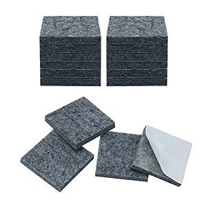 Sourcing Map Möbel-Pads, quadratisch, 1,9 cm, selbstklebend, Anti-Rutsch, Anti-Kratz, Filzgleiter, Grau, 16 Stück