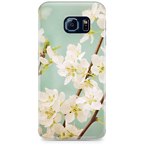 Queen Of Cases Coque pour Apple iPhone 6Plus/6S Plus-Magnolia printemps fleurs-Premium en plastique bleu