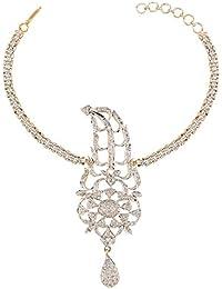 Sri Shringarr Fashion Fancy Micro Gold Polished American Diamond Bajubandh/Armlet - (BB106ON)