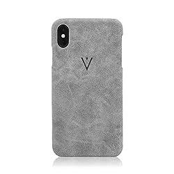 Envlop SandGripz Case | Hülle für iPhone XS/X aus hochwertigem PU Leder - Grau