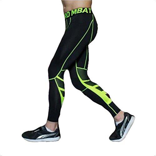 UrChoiceLtd® GYM QX Corredor Masculino Pantalones Deportivos Mens  Compression Llevar Entrenamiento Ropa Rápida Seco Transpirable d8617a04967