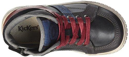 Kickers Wincut, Sneakers Hautes garçon Noir (Noir/Bleu)